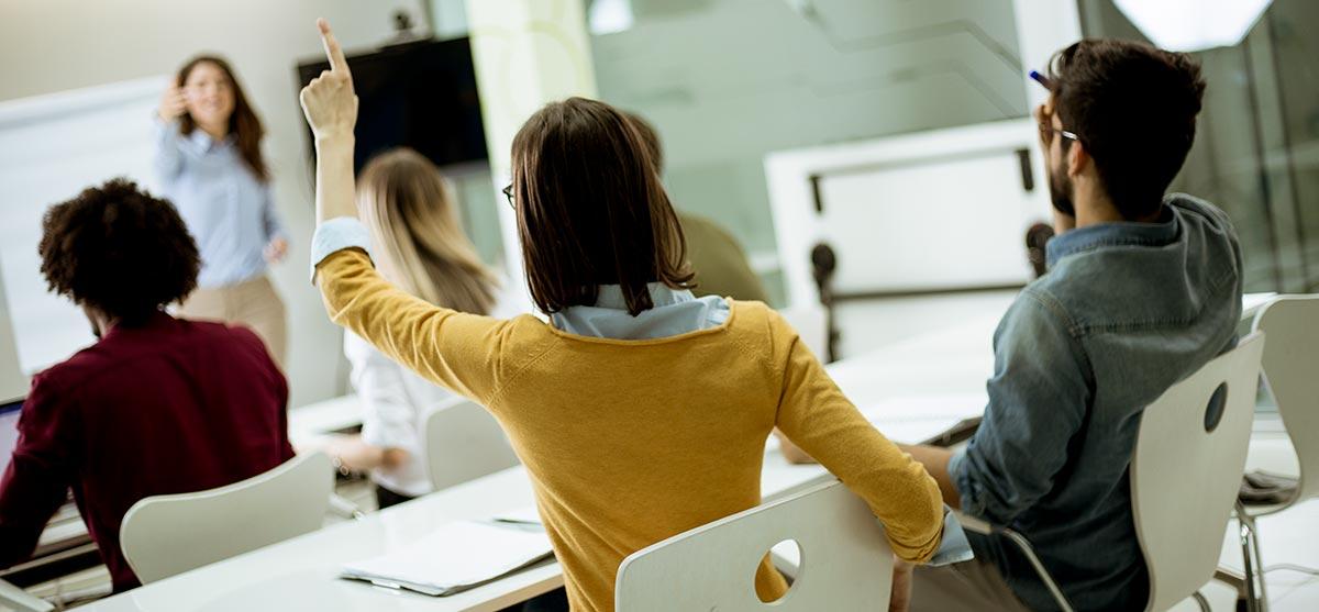 Studenti in aula durante un corso di formazione